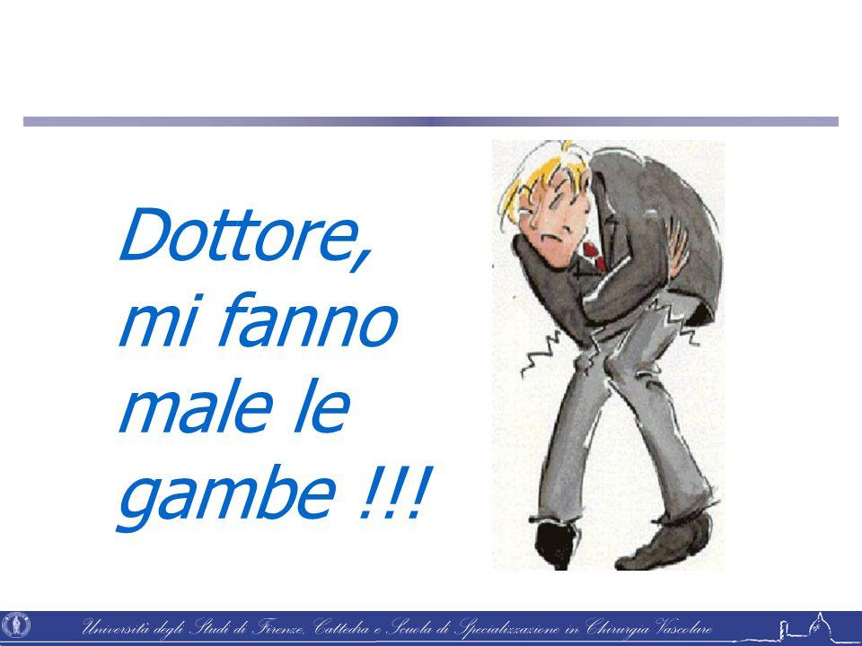 Università degli Studi di Firenze, Cattedra e Scuola di Specializzazione in Chirurgia Vascolare Dottore, mi fanno male le gambe !!!