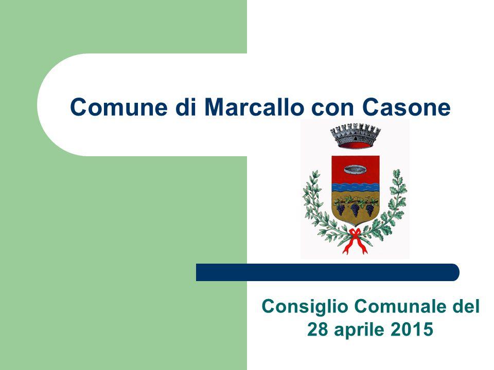 Comune di Marcallo con Casone Consiglio Comunale del 28 aprile 2015