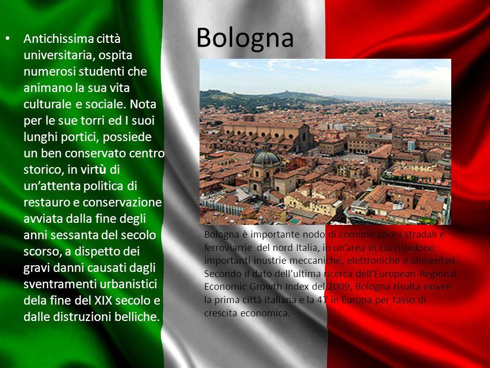 Bologna Antichissima città universitaria, ospita numerosi studenti che animano la sua vita culturale e sociale.