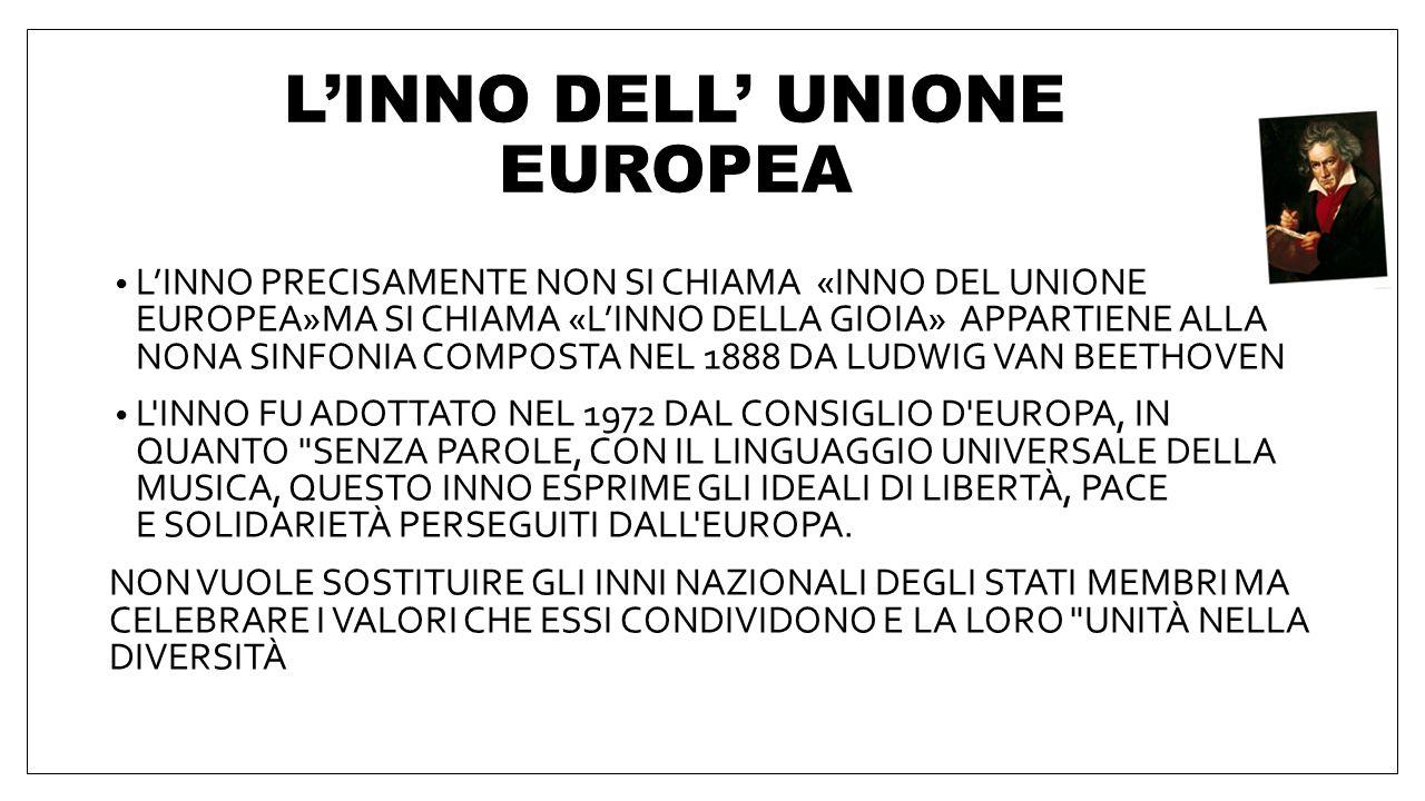 Paesi dell'Unione europea 1º GENNAIO 1957: BELGIO, FRANCIA, GERMANIA, ITALIA, LUSSEMBURGO E PAESI BASSI 1º GENNAIO 1973: REGNO UNITO, DANIMARCA E IRLA