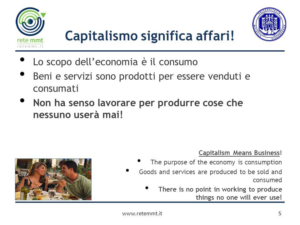 Capitalismo significa affari.
