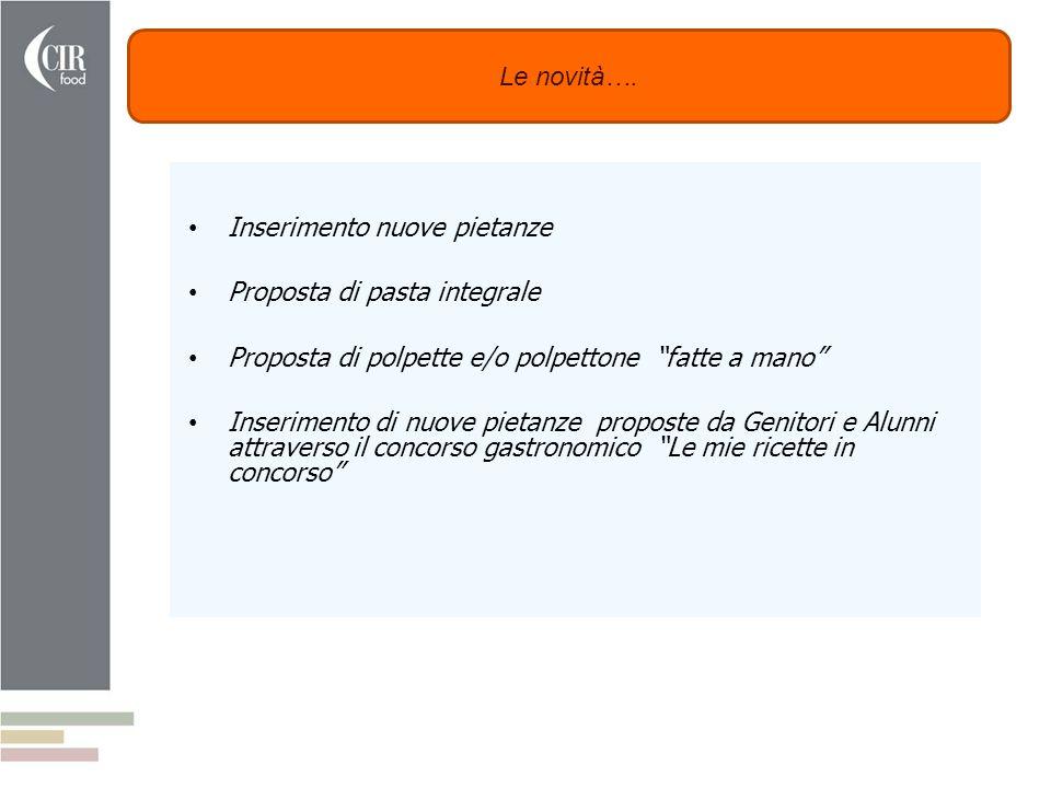 Comune di Teolo - CIR Food Mercoledì 27 Febbraio 2013 Le novità…. Inserimento nuove pietanze Proposta di pasta integrale Proposta di polpette e/o polp
