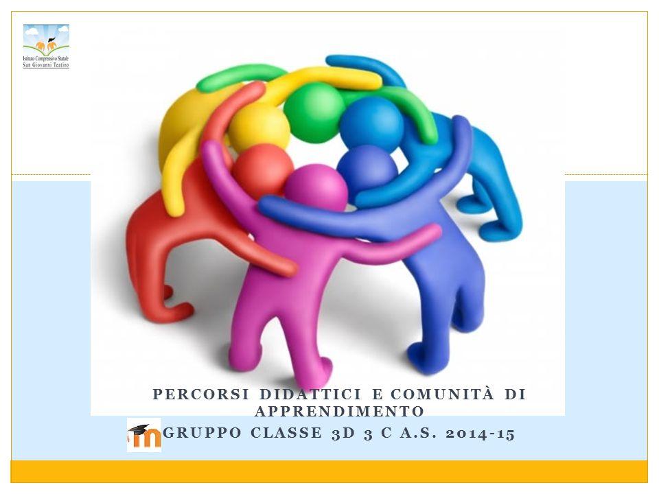 PERCORSI DIDATTICI E COMUNITÀ DI APPRENDIMENTO GRUPPO CLASSE 3D 3 C A.S. 2014-15