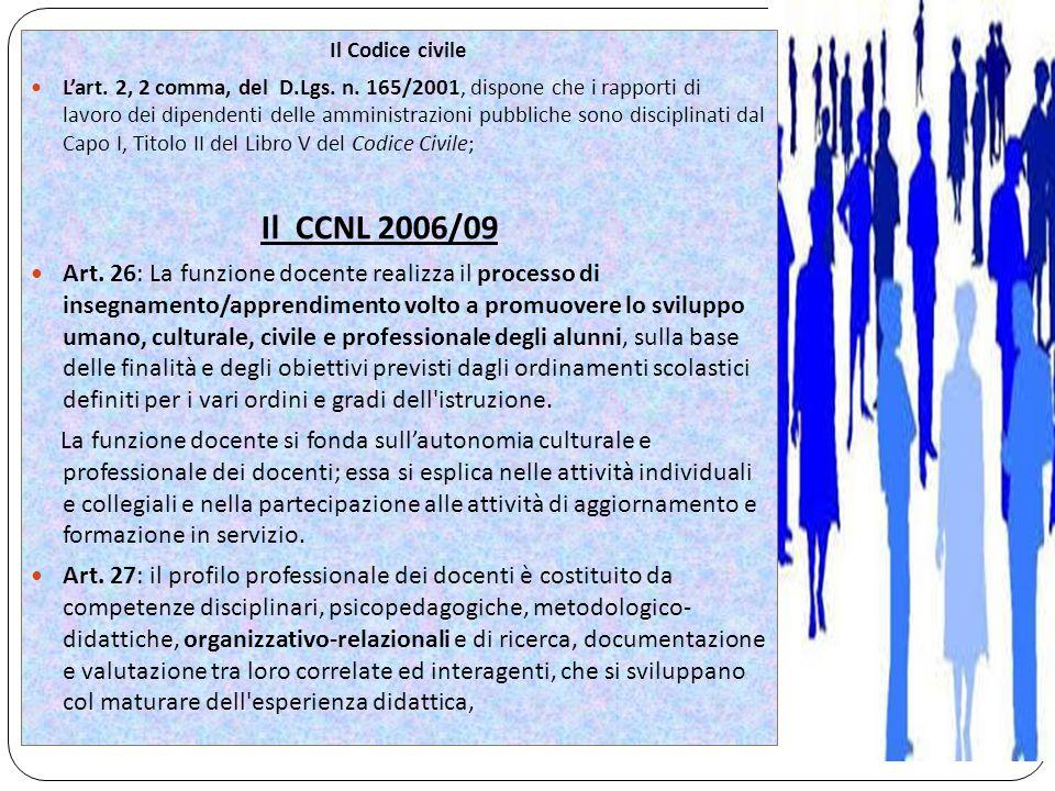 Il Codice civile L'art. 2, 2 comma, del D.Lgs. n.
