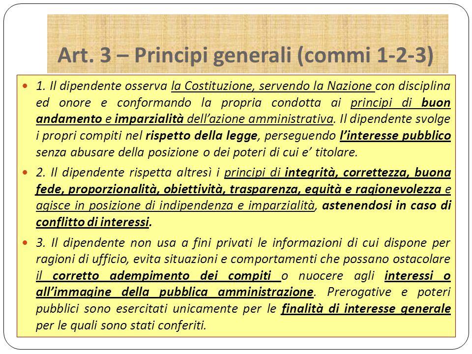 Art.3 – Principi generali (commi 4-5-6) 4.