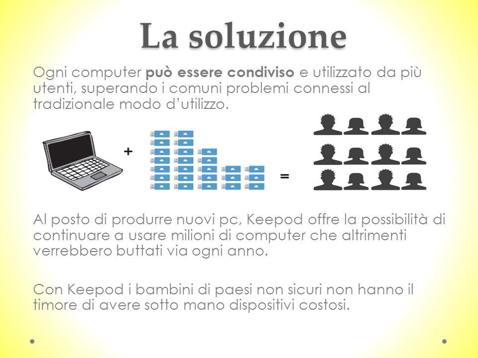 La soluzione Ogni computer può essere condiviso e utilizzato da più utenti, superando i comuni problemi connessi al tradizionale modo d'utilizzo.