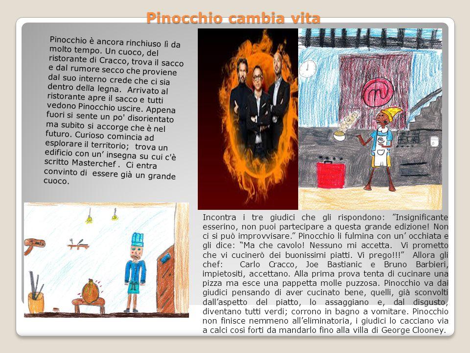 Circa a metà spettacolo Pinocchio scompare, dopo qualche minuto lo vedono sopra il palcoscenico e, subito, una sonora risata del pubblico rimbomba nel