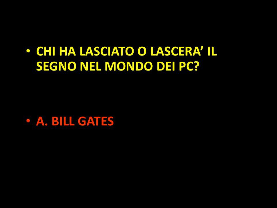 Organization in Pathways CHI HA LASCIATO O LASCERA' IL SEGNO NEL MONDO DEI PC? A. BILL GATES