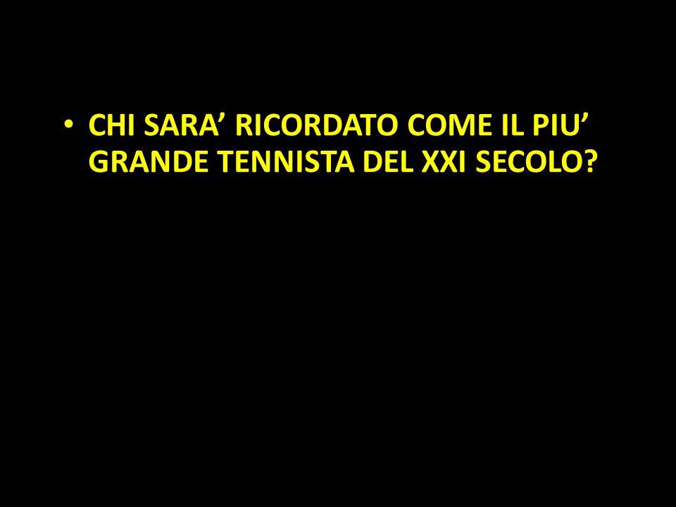 Organization in Pathways CHI SARA' RICORDATO COME IL PIU' GRANDE TENNISTA DEL XXI SECOLO?