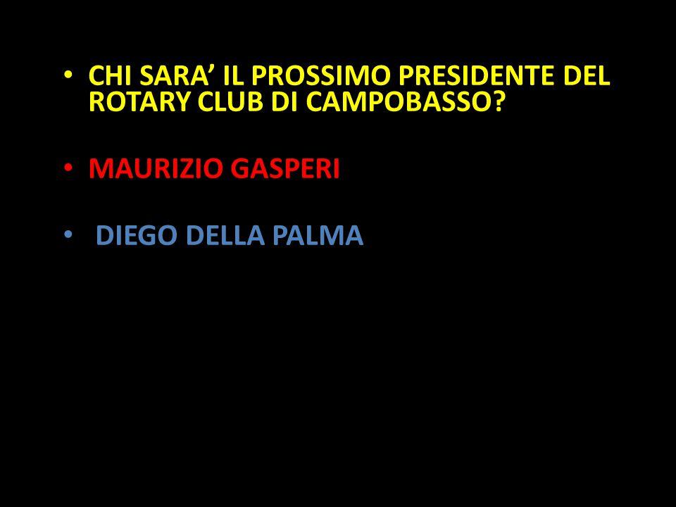 Organization in Pathways CHI SARA' IL PROSSIMO PRESIDENTE DEL ROTARY CLUB DI CAMPOBASSO? MAURIZIO GASPERI DIEGO DELLA PALMA