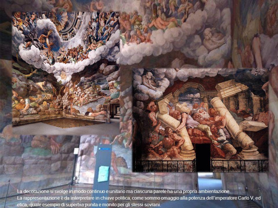 La decorazione si svolge in modo continuo e unitario ma ciascuna parete ha una propria ambientazione. La rappresentazione è da interpretare in chiave