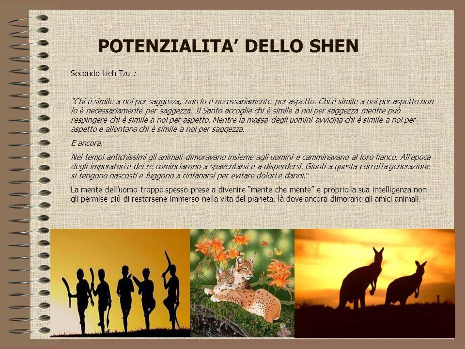 """POTENZIALITA' DELLO SHEN Secondo Lieh Tzu : """"Chi è simile a noi per saggezza, non lo è necessariamente per aspetto. Chi è simile a noi per aspetto non"""