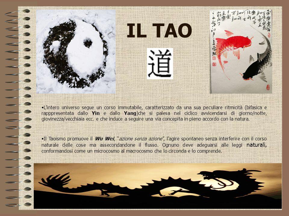 IL TAO L'intero universo segue un corso immutabile, caratterizzato da una sua peculiare ritmicità (bifasica e rapppresentata dallo Yin e dallo Yang)ch