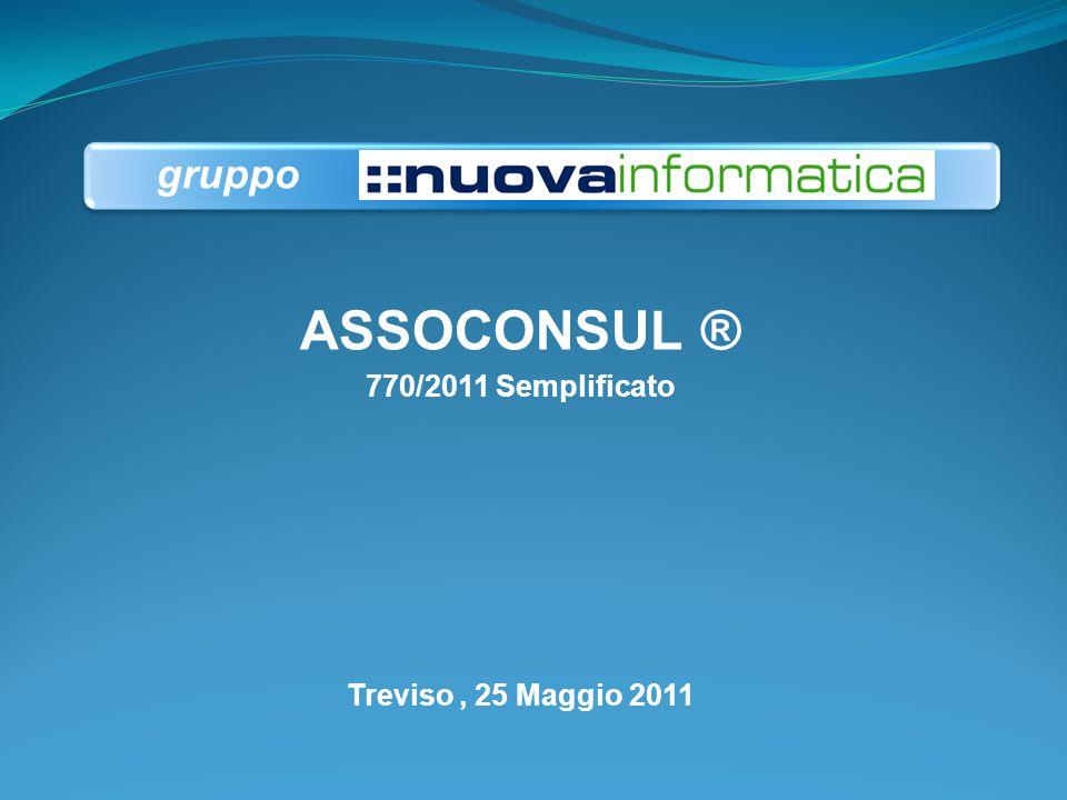 ASSOCONSUL ® 770/2011 Semplificato Treviso, 25 Maggio 2011