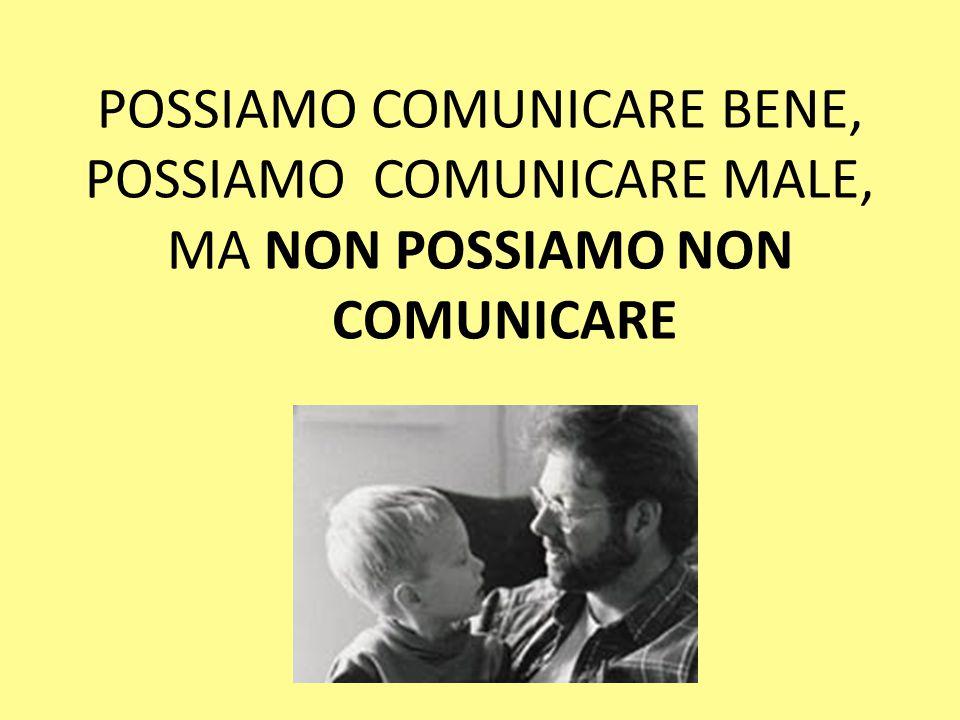 POSSIAMO COMUNICARE BENE, POSSIAMO COMUNICARE MALE, MA NON POSSIAMO NON COMUNICARE
