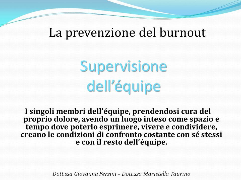 L'importanza della condivisione… Dott.ssa Giovanna Fersini – Dott.ssa Maristella Taurino