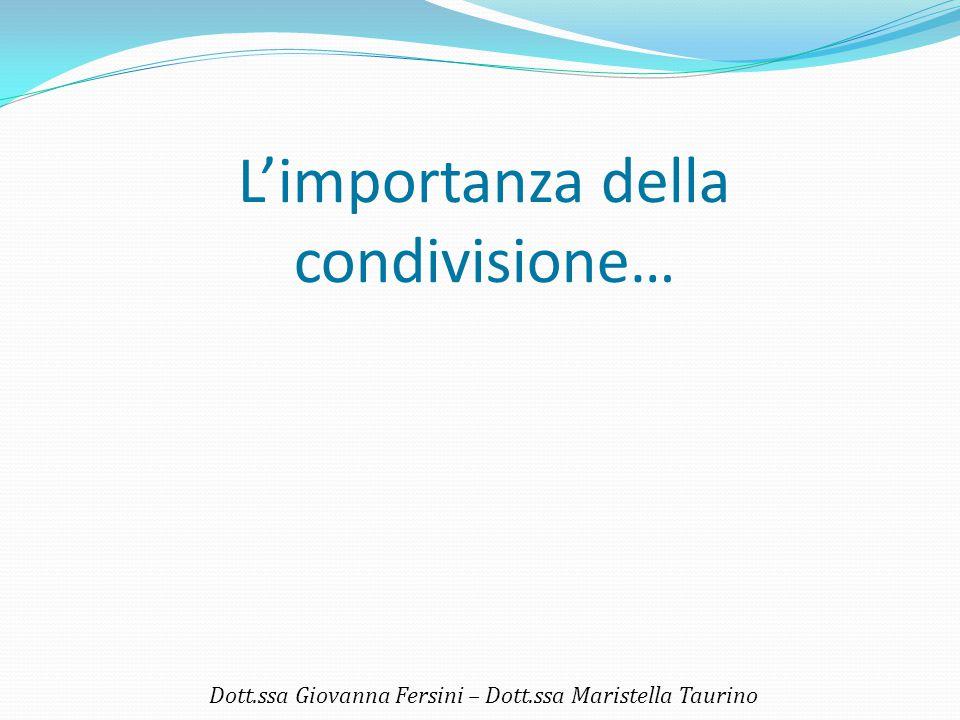 Imparare ad usare sé stessi come strumento terapeutico Dott.ssa Giovanna Fersini – Dott.ssa Maristella Taurino