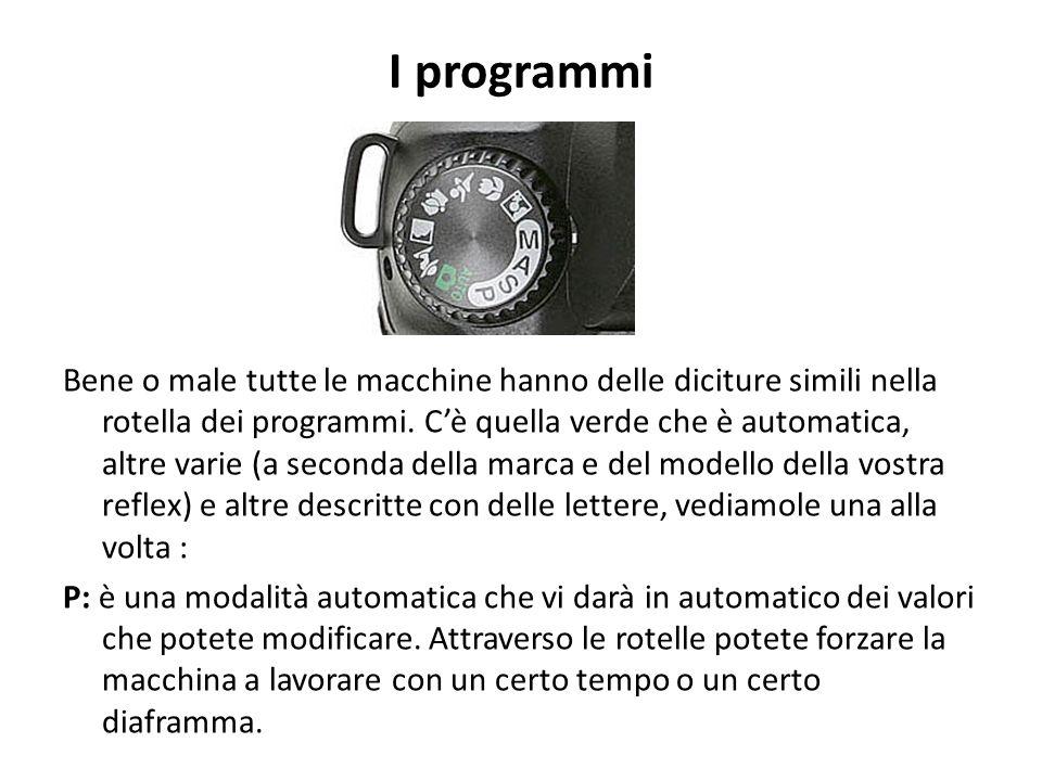 I programmi Bene o male tutte le macchine hanno delle diciture simili nella rotella dei programmi. C'è quella verde che è automatica, altre varie (a s