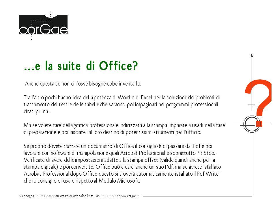 …e la suite di Office. Anche questa se non ci fosse bisognerebbe inventarla.