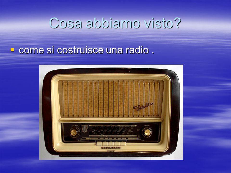 Cosa abbiamo visto  come si costruisce una radio.