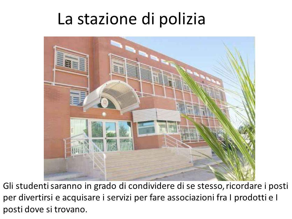 La stazione di polizia Gli studenti saranno in grado di condividere di se stesso, ricordare i posti per divertirsi e acquisare i servizi per fare associazioni fra I prodotti e I posti dove si trovano.