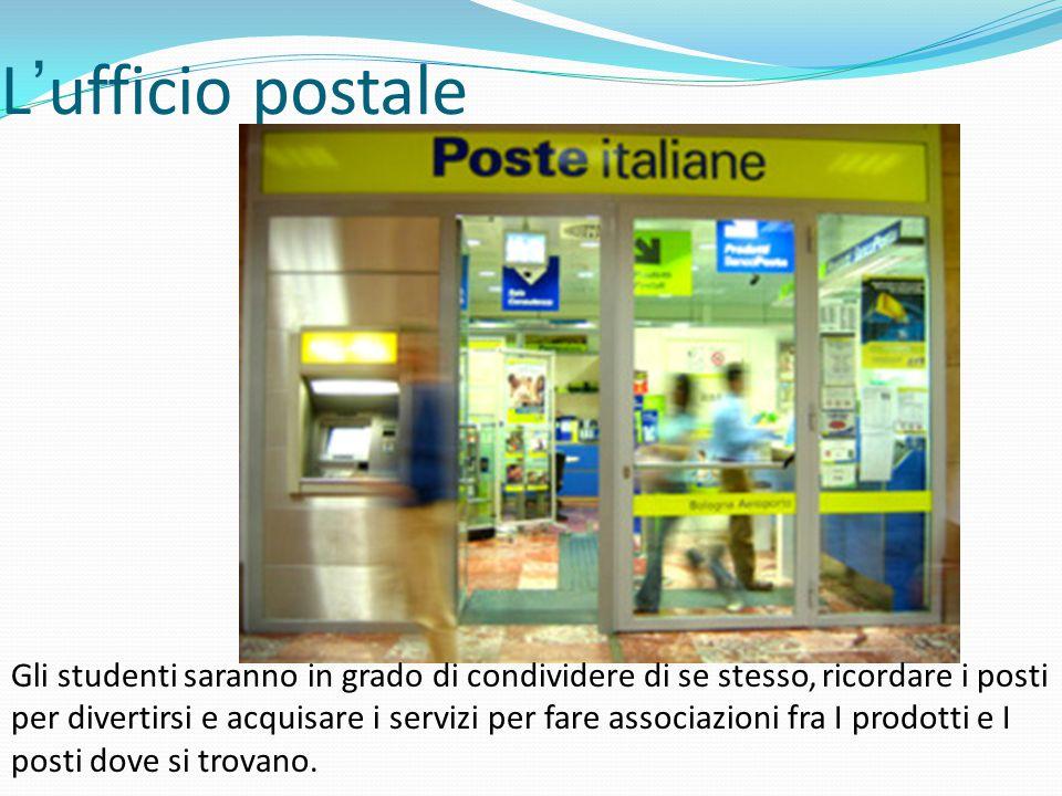 L'ufficio postale Gli studenti saranno in grado di condividere di se stesso, ricordare i posti per divertirsi e acquisare i servizi per fare associazioni fra I prodotti e I posti dove si trovano.