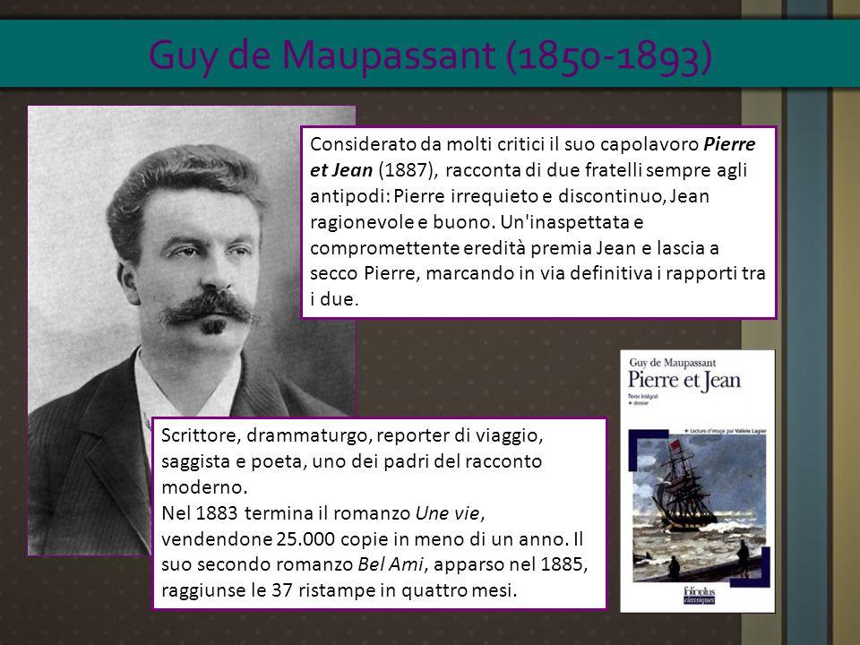 Scrittore, drammaturgo, reporter di viaggio, saggista e poeta, uno dei padri del racconto moderno. Nel 1883 termina il romanzo Une vie, vendendone 25.