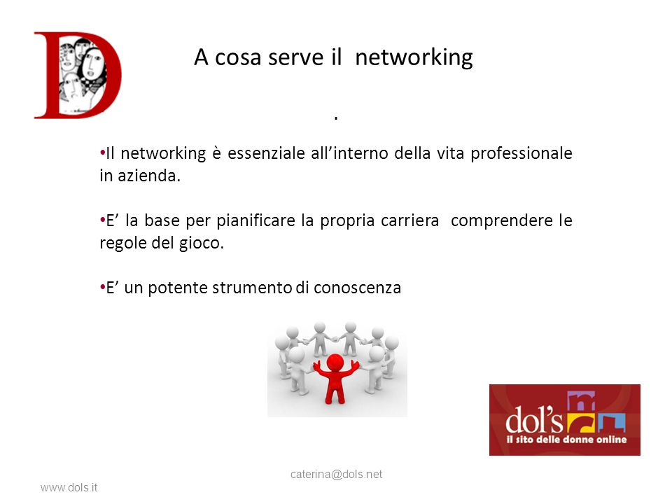 A cosa serve il networking www.dols.it caterina@dols.net.