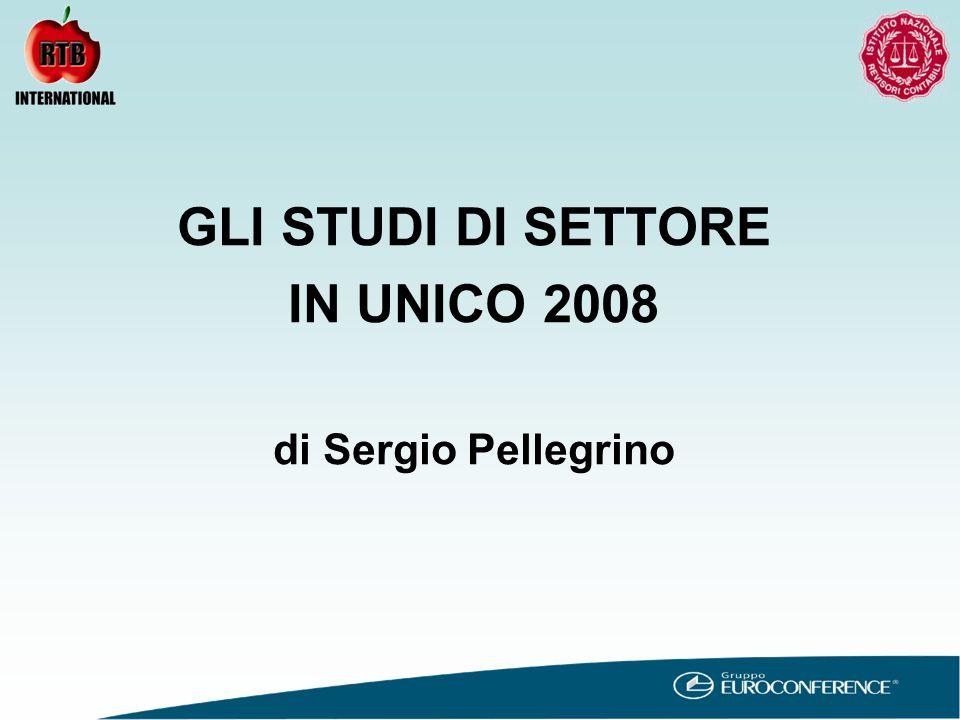 96.09.02 MODELLO STUDIO DI SETTORE PER IL 2007 QUADRO RF UNICO 2008 CODIFICA ATECO 2007