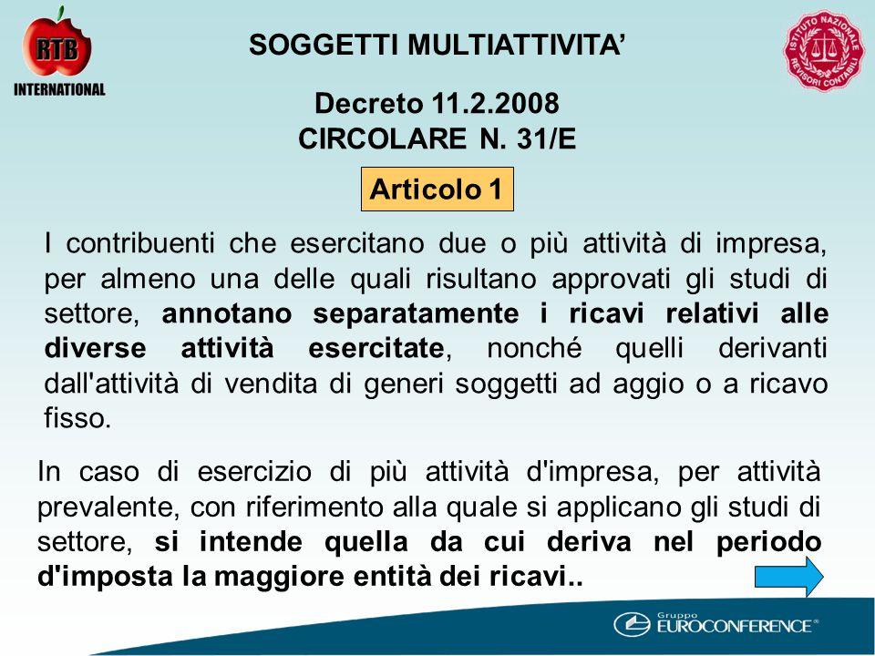 Decreto 11.2.2008 CIRCOLARE N.