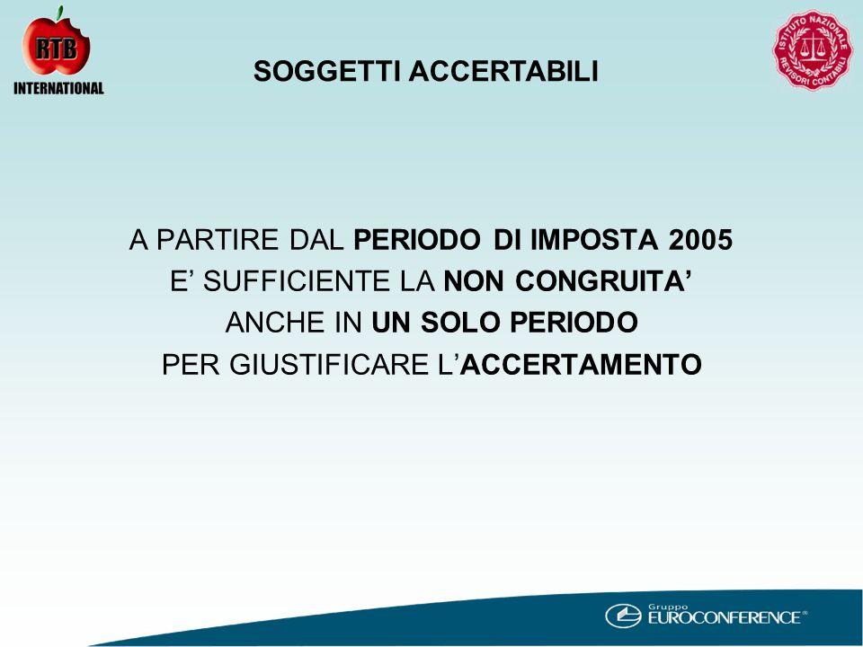 CAUSE DI ESCLUSIONE INVARIATA Ricavi/compensi dichiarati superiori a € 5.164.569