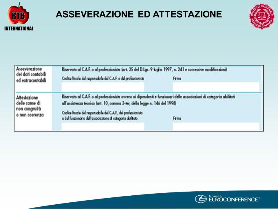 ASSEVERAZIONE ED ATTESTAZIONE
