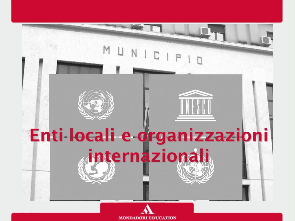 Enti locali e organizzazioni internazionali