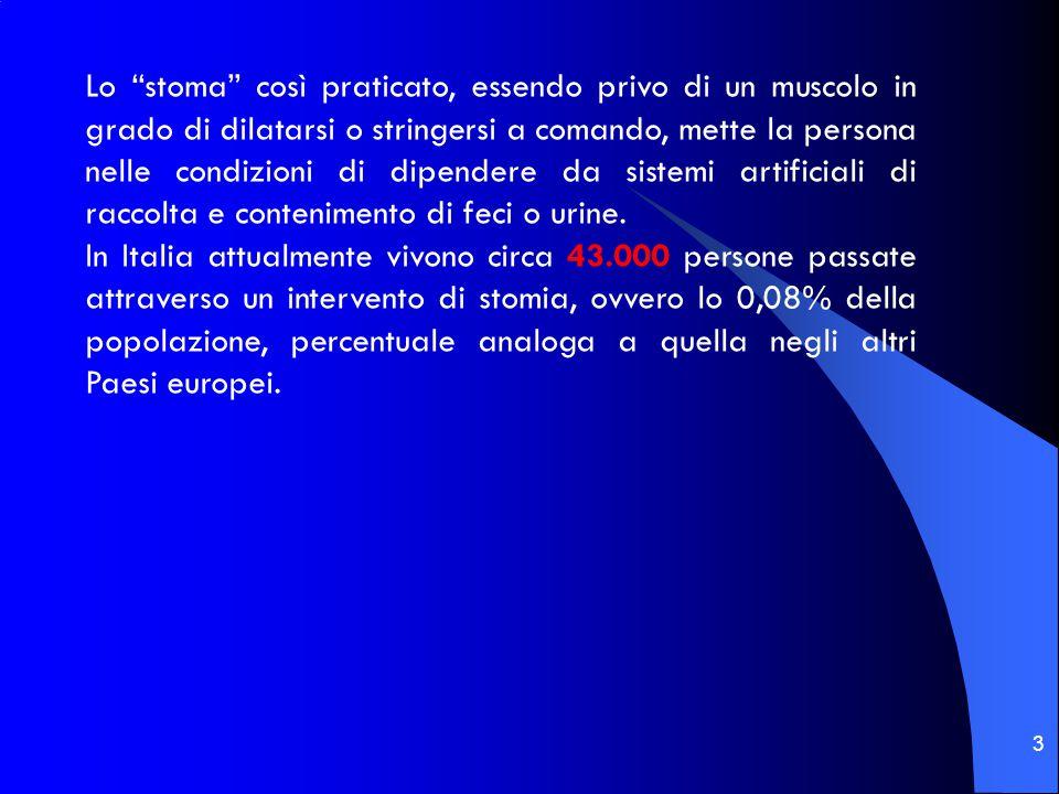 44 LA SCELTA DEL PRESIDIO STOMALE LA SCELTA DEL PRESIDIO STOMALE La scelta del dispositivo di raccolta è molto importante per favorire l'autonomia e la sicurezza della persona portatrice di colostomia.
