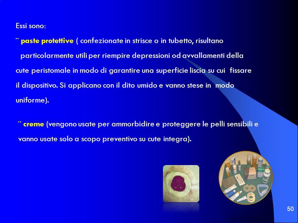 50 Essi sono: ¨ paste protettive ( confezionate in strisce o in tubetto, risultano particolarmente utili per riempire depressioni od avvallamenti dell