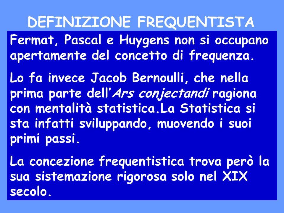 Fermat, Pascal e Huygens non si occupano apertamente del concetto di frequenza.