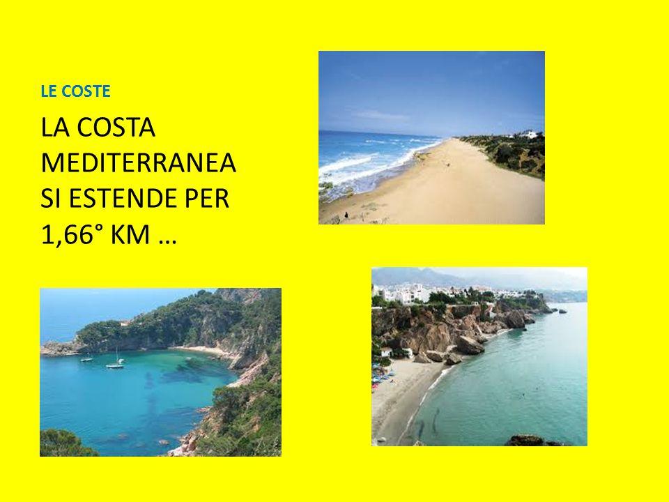 LE COSTE LA COSTA MEDITERRANEA SI ESTENDE PER 1,66° KM …