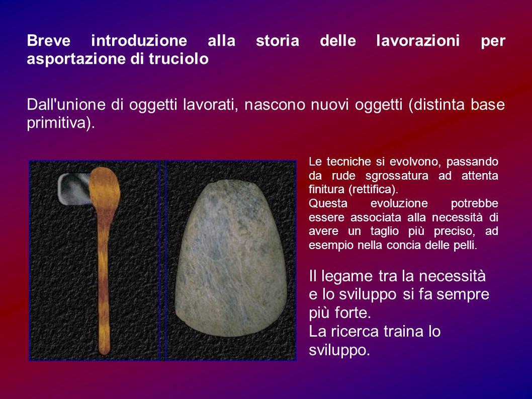 Breve introduzione alla storia delle lavorazioni per asportazione di truciolo Dall unione di oggetti lavorati, nascono nuovi oggetti (distinta base primitiva).
