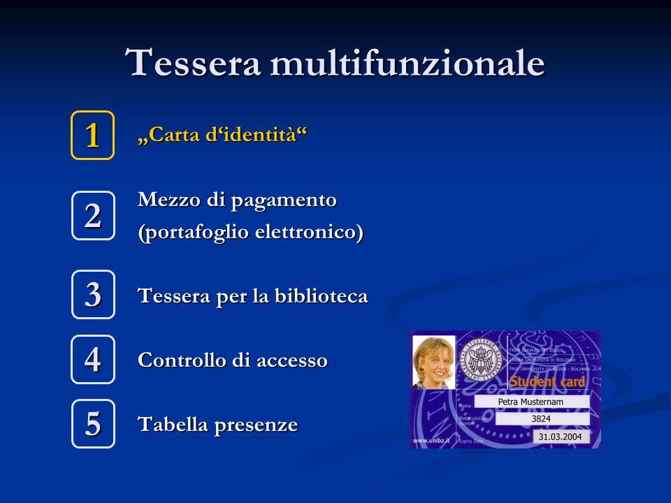 A quali progetti stiamo lavorando Connessione al bancomat Pagamento delle stampe direttamente alla stampante Pagamento delle tasse universitarie con la chip-card Attivazione delle stampe di certificati con la chip-card Distributore multifunzionale modernissimo (caffé + snack) con touchscreen nella biblioteca di Bolzano