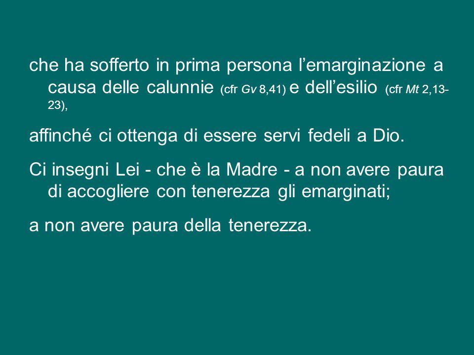 E pensate bene, in questi giorni in cui avete ricevuto il titolo cardinalizio, invochiamo l'intercessione di Maria, Madre della Chiesa,