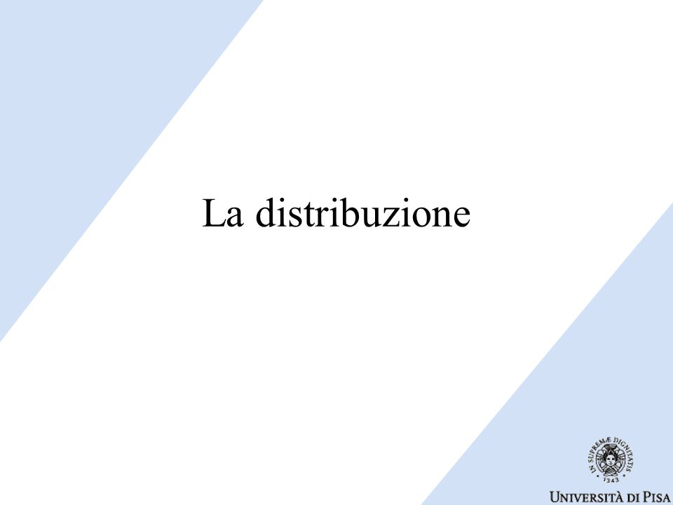 La distribuzione