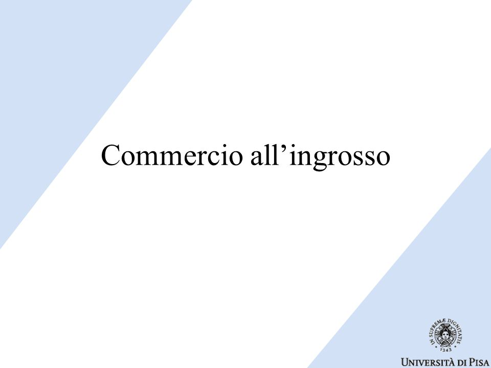 Commercio all'ingrosso