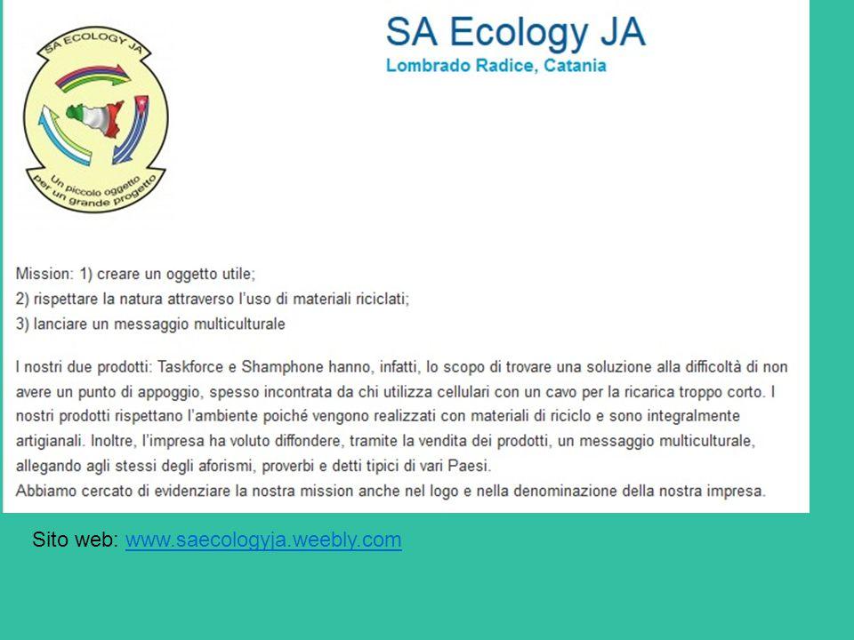 Sito web: www.saecologyja.weebly.comwww.saecologyja.weebly.com