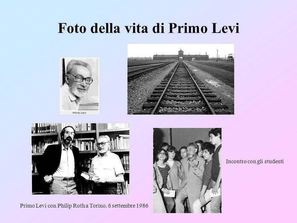 Foto della vita di Primo Levi Incontro con gli studenti Primo Levi con Philip Roth a Torino.
