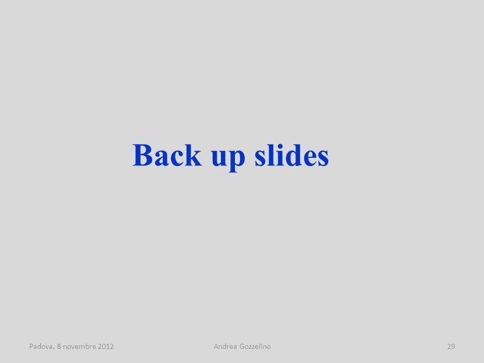 Padova, 8 novembre 2012Andrea Gozzelino29 Back up slides