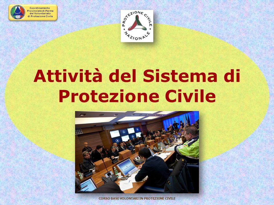 Coordinamento Provinciale di Parma del Volontariato di Protezione Civile CORSO BASE VOLONTARI IN PROTEZIONE CIVILE Il volontario e il posto di lavoro
