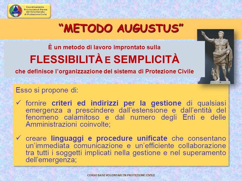 Coordinamento Provinciale di Parma del Volontariato di Protezione Civile CORSO BASE VOLONTARI IN PROTEZIONE CIVILE L A G ESTIONE O PERATIVA IN E MERGE