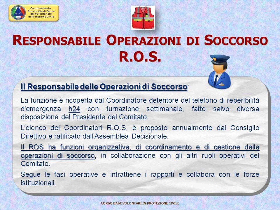 Coordinamento Provinciale di Parma del Volontariato di Protezione Civile CORSO BASE VOLONTARI IN PROTEZIONE CIVILE GRADI GRADI : Coordinatore di Comit