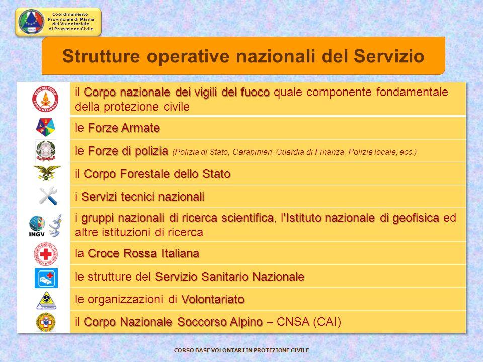 Coordinamento Provinciale di Parma del Volontariato di Protezione Civile CORSO BASE VOLONTARI IN PROTEZIONE CIVILE State entrando a far parte del Sist