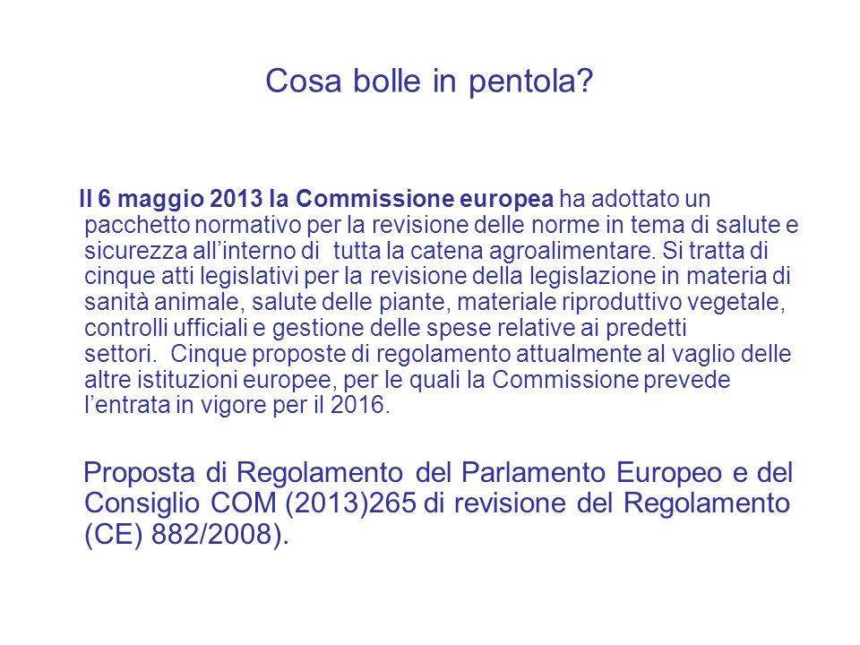 Cosa bolle in pentola? Il 6 maggio 2013 la Commissione europea ha adottato un pacchetto normativo per la revisione delle norme in tema di salute e sic